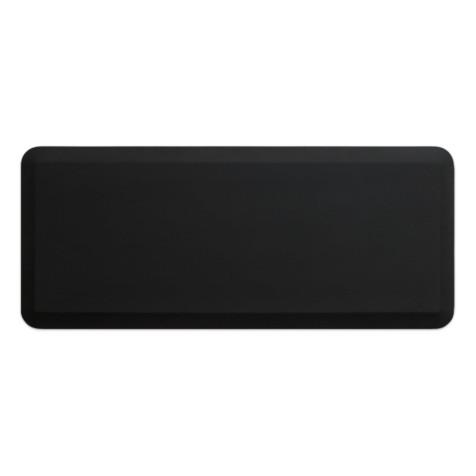 NewLife by GelPro Professional Grade Anti-Fatigue Kitchen & Office Comfort Mat, 20x48, Midnight ¾'' Bio-Foam Mat with non-slip bottom for health & wellness