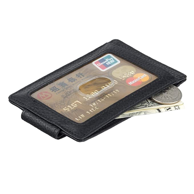 e4e4009f1c06 Image Unavailable. Image not available for. Color: eYotto Minimalist  Genuine Leather RFID Blocking Credit Card Holder Money Clip for Men Front Pocket  Slim