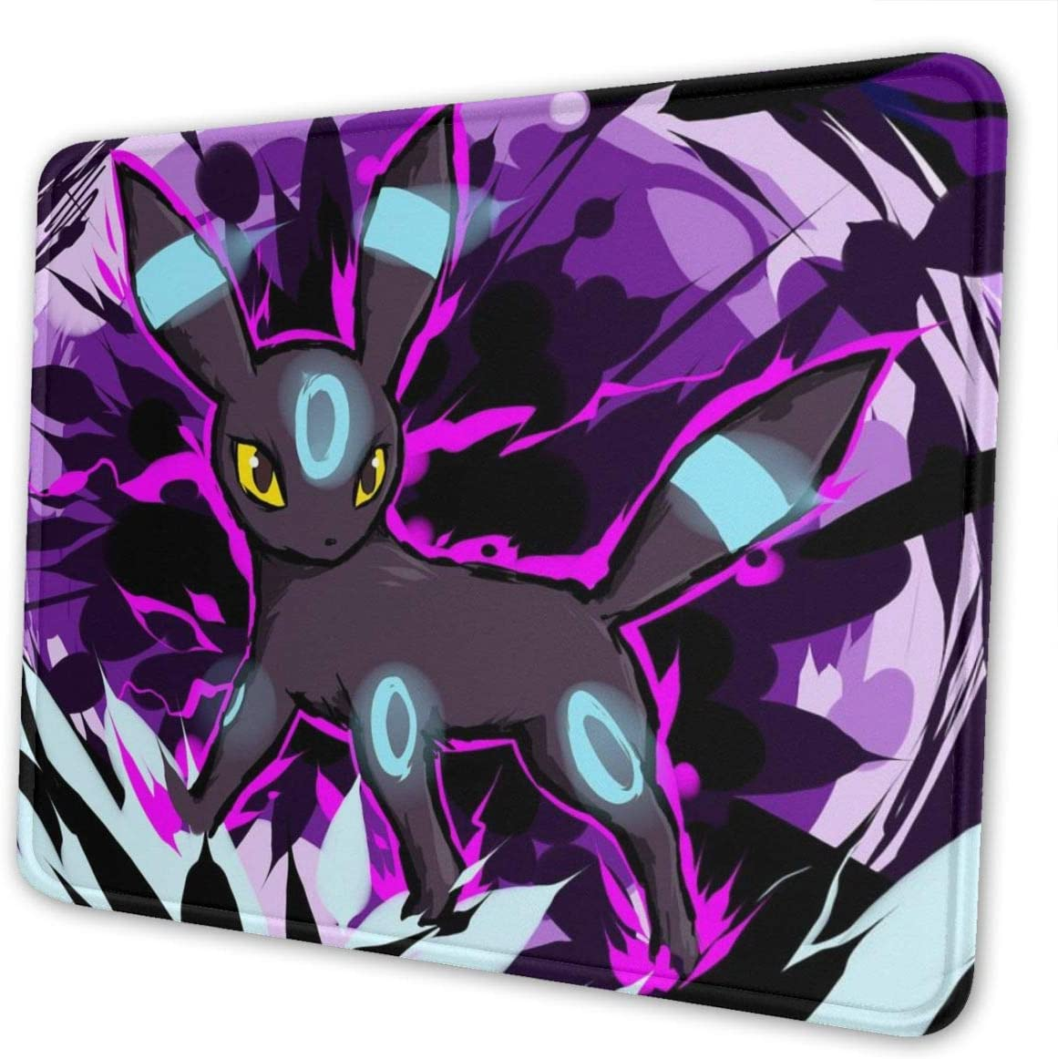 Desk Mat Non-Slip Rubber Stitched Edges Umbreon Attack Gaming Mouse Pad 4 Size
