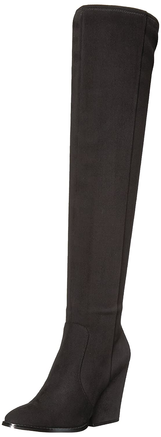 Calvin Klein Women's Catia Over The Knee Boot B073WMW6G8 6 B(M) US|Black Stretch Microsuede