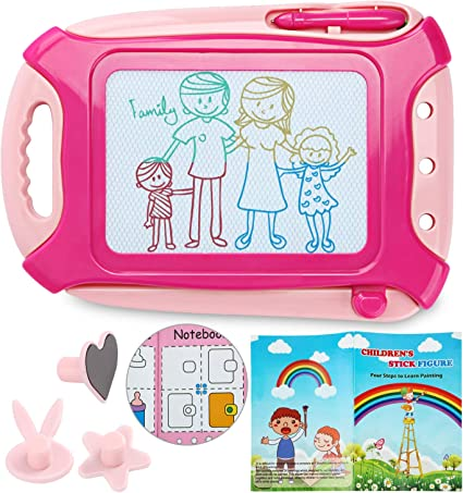 Magnetic Drawing Board Travel Size,Erasable Doodle Sketching Writing Board Pad