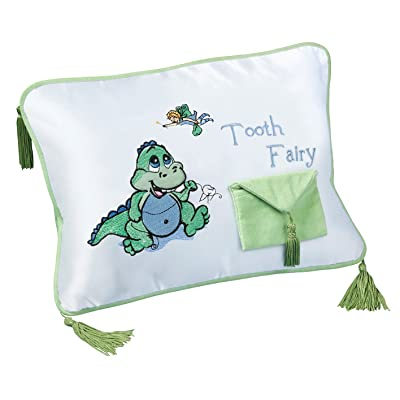 "Lillian Rose Tooth Fairy Embroidered Pillow, Dinosaur, 12"" x 9"": Baby"