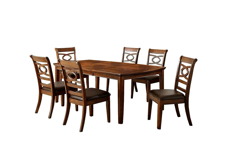 Amazoncom Furniture Of America Reminson 7 Piece Dining Table Set