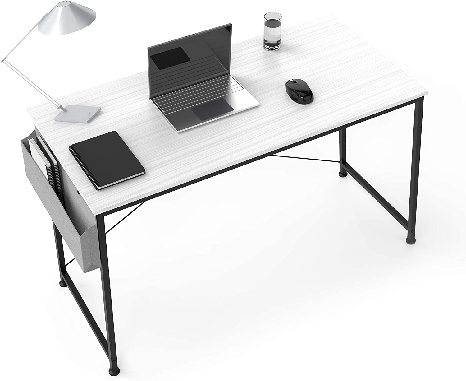 "Computer Desk 47"" Home Small Desk, Writing Desk Laptop Table with Storage Bag and Headphone Hook for Small Spaces, Simple Study Desks for Bedroom, Home, Office"