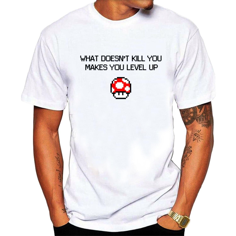 Men's Makes You Stronger O-Neck tshirts White fashion short sleeves