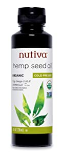 Nutiva Organic Cold-Pressed Unrefined Hemp Oil, 8 Ounce