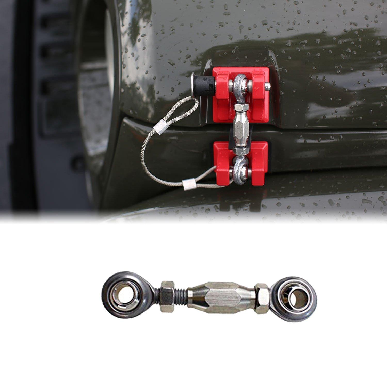 Sukemichi Hood Latch Kit 1996-2006 Jeep Wrangler TJ Replacement Secure Kit