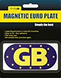 GB Euro Magnetic Sticker - Blue Background - For Travel Abroad