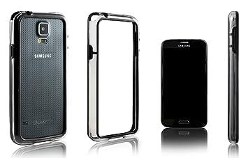 Xcessor Bumper Funda Carcasa de Parachoques Clásico para Samsung Galaxy S5 i9600 (Compatible con todos los modelos de Samsung Galaxy S5). Caucho y ...