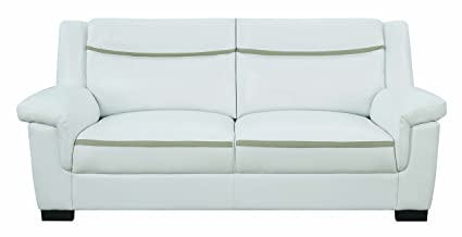 Coaster 506594-CO Fabric Sofa, White Finish