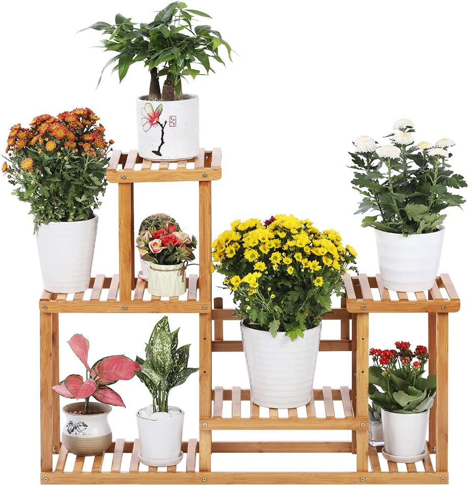 Desheng 4-Tier Bamboo Plant Stand