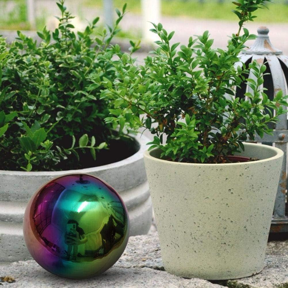 di/ámetro: 20cm // 25cm // 30cm Ranget Esfera de jard/ín de Acero Inoxidable Pulida Bola de Espejo Pulido Espejo para Decoraciones de jard/ín