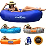 Inflatable Lounger Boha Bag Air Sofa Lounge Hammock and Pool Float, Perfect for Hiking Camping Beach Hangout Music Festivals Pool Parties, The Most Comfortable Air Lounger!