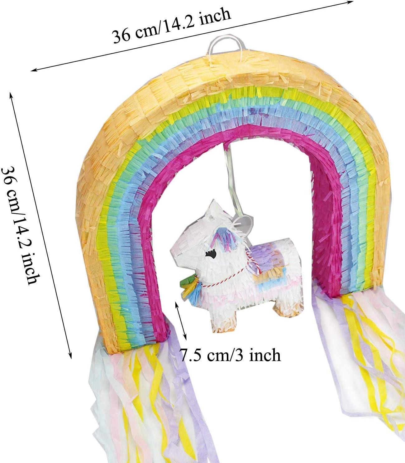 Birthday Eseewin Pinata mit Plastikstift und Augenmaske Partydekorationen Mix Farbe Papier Zubeh/ör S/ü/ßigkeiten Gef/älligkeiten Dekorationsideen f/ür Partys