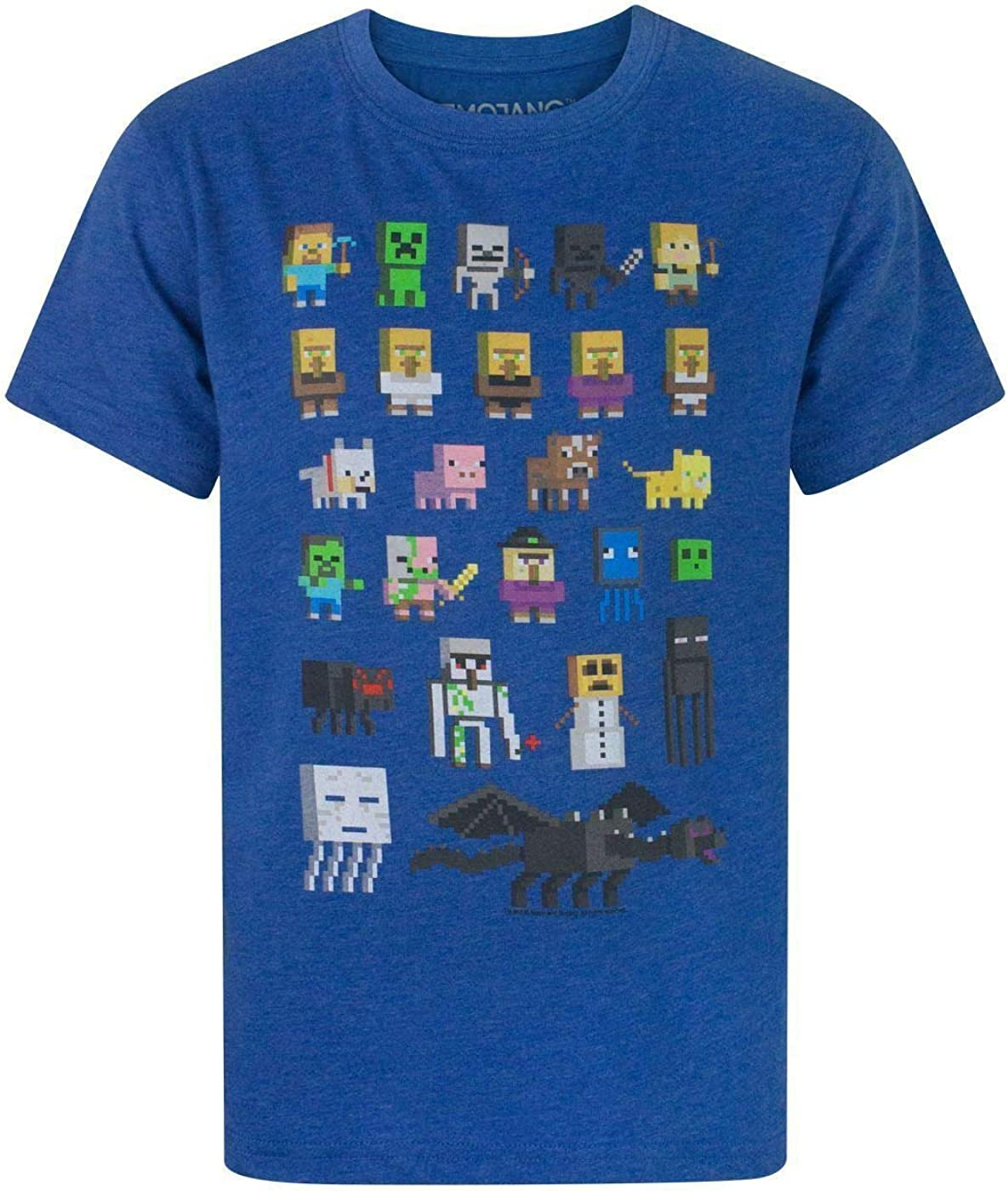 Minecraft Adventure Girl/'s Blue T-Shirt UK Sizes 3 to 15 Years