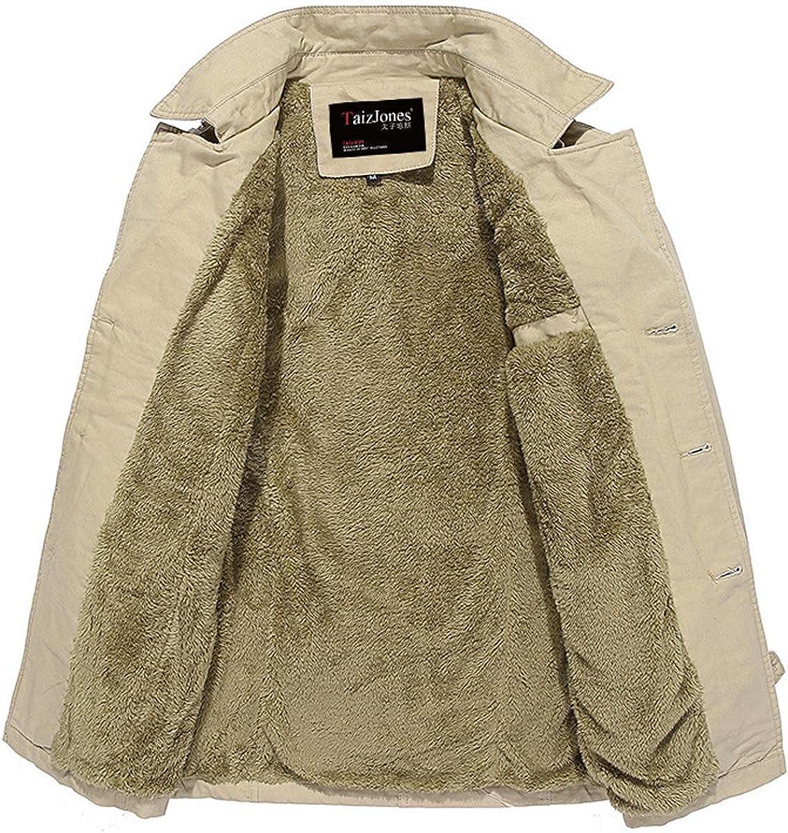 Mens Trench Jacket Coats Windproof Wind Trench Coat Outdoor Wear