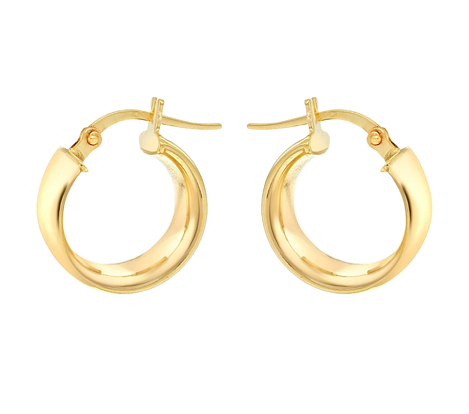 Carissima Gold Women's 9 ct Yellow Gold Band Creole Earrings SQjunVM