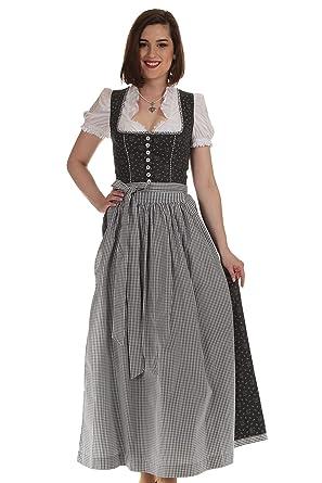 b9f4031a1b8ac8 Königssee Tracht Damen Dirndl lang anthrazit Trachtenkleid Damen ...