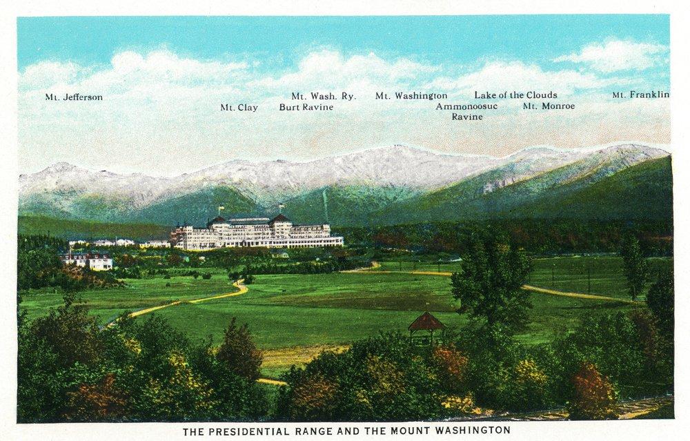 Bretton Woods, NH - Mt Washington Hotel, Presidential Range View # 3 (9x12 Art Print, Wall Decor Travel Poster)