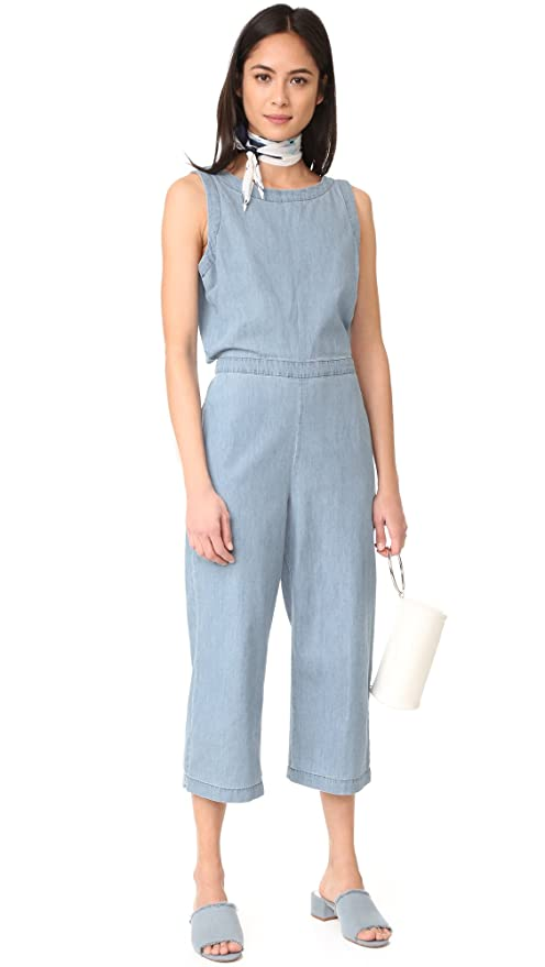 e4642026cd0b Amazon.com  cupcakes and cashmere Women s Hoffman Cropped Button Back  Jumpsuit