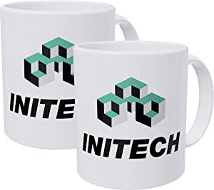 Willcallyou Pack of 2 Initech the Office 11 Ounces Funny White Coffee Mug