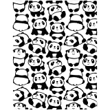 QH 58 x 80 Inch Cute Panda Pattern Super Soft Throw Blanket for Bed Couch Sofa Lightweight Travelling Camping Throw Size…