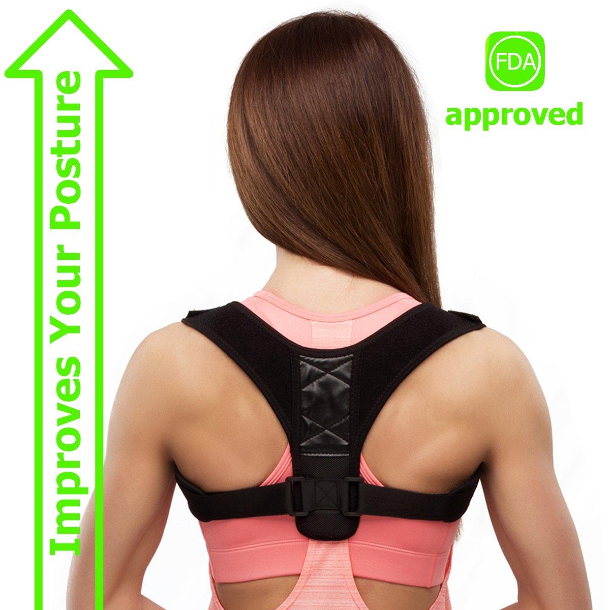Back Posture Corrector for Men - Adjustable Shoulder Posture Corrector Brace for Women - Medical Posture Brace for Clavicle Support and Upper Back Correction for Adults