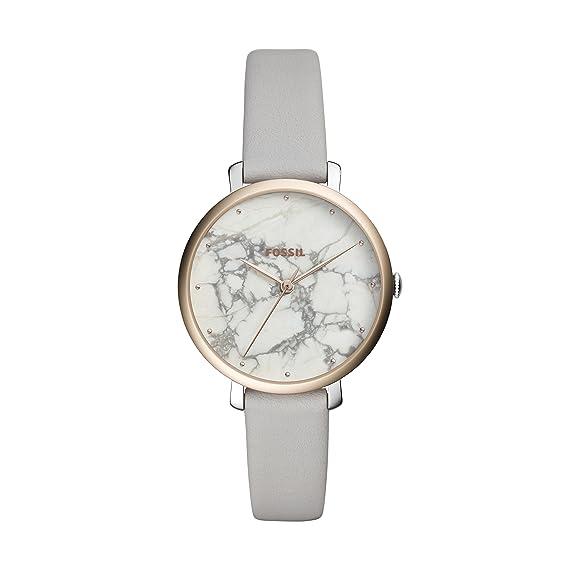 Fossil Reloj Analógico para Mujer de Cuarzo con Correa en Cuero ES4377: Amazon.es: Relojes