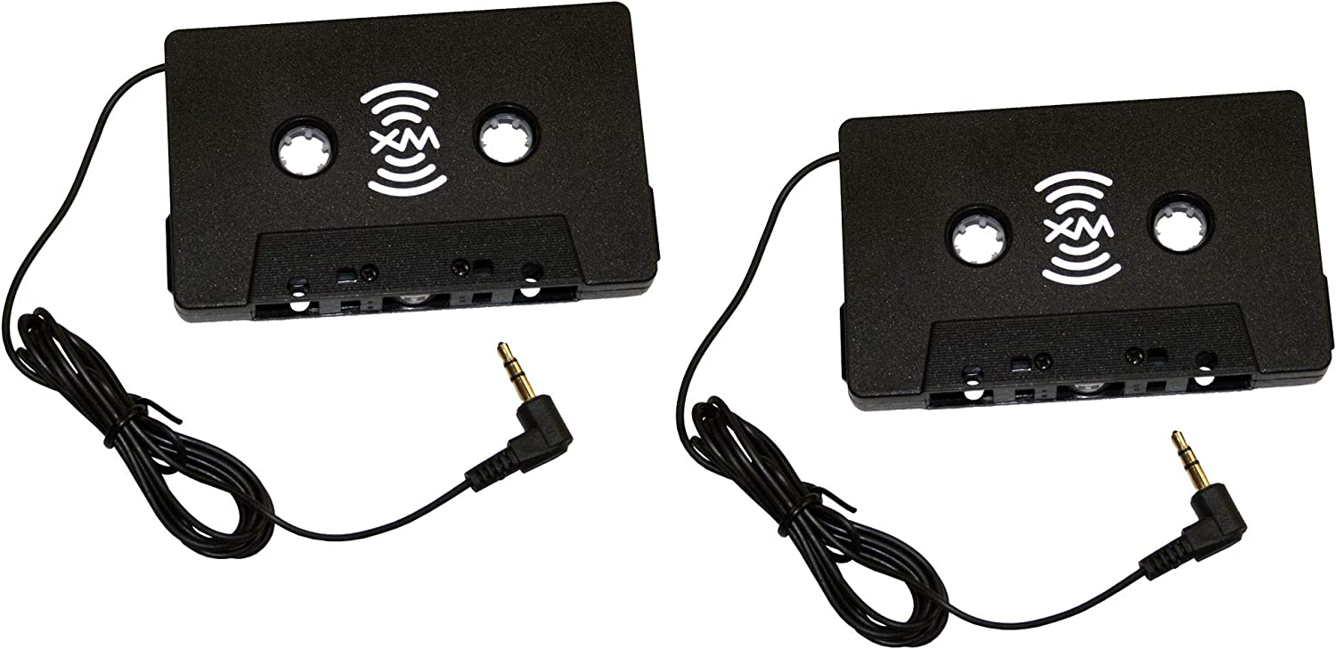 2 Pack - SiriusXM Satellite Radio Cassette Tape Adapter, Works with All Sirius and XM Radio Receivers, Sportster, Starmate, Stratus, Delphi, AudioVox, Onyx, Xpress and More