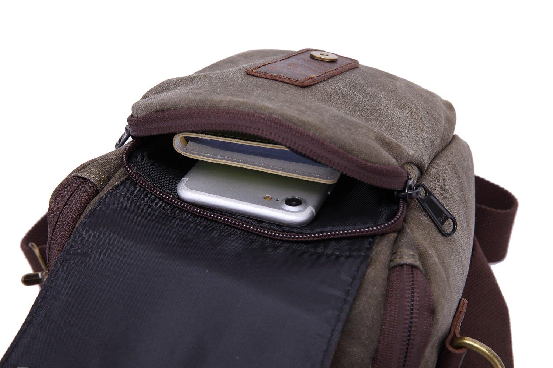 XINXI-MAO Cozy Mens Diagonal Bag Vertical Models Square Camera Bag Shoulder Portable Mens Bag Waterproof Wear Canvas Bag Backpack Color : Gray, Size : S