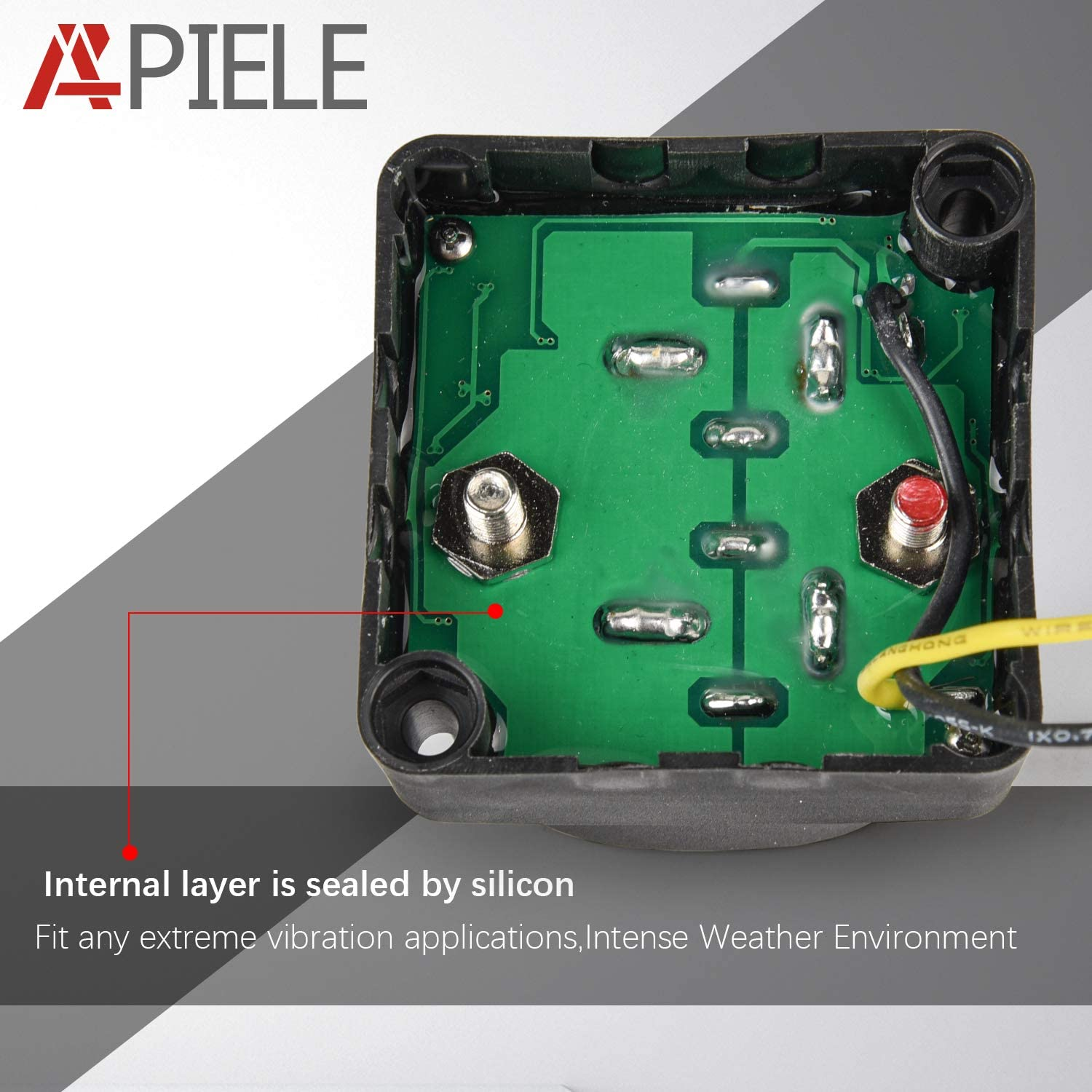 APIELE 12V 140 Amp Voltage Sensitive Relay VSR Automatic Charging Relay Dual Battery Isolator Kit