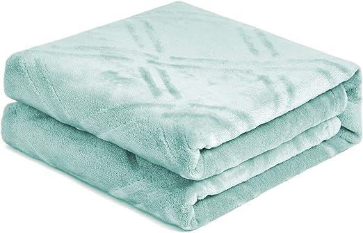 "810E Super Soft Luxurious Plush Fleece Throw Blanket Light 14 Solid Colors 111/""x"