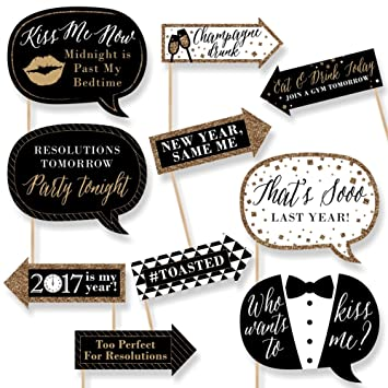 Funny New Year\'s Eve - New Years Eve Photo Booth Props Kit - 10 ...