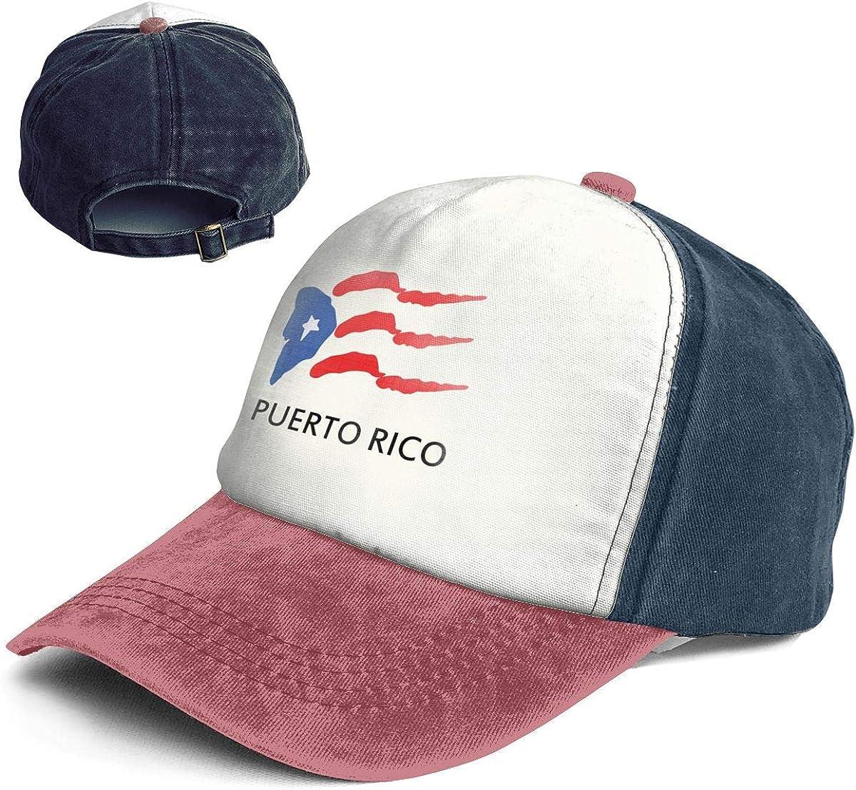 Fashion Vintage Hat Puerto Rico Flag Tribal Adjustable Dad Hat Baseball Cowboy Cap