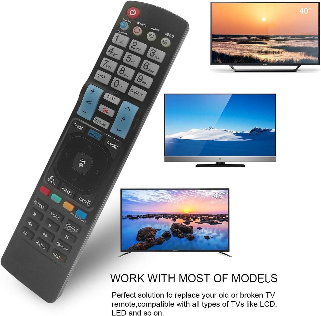 Nuevo Mando a Distancia el LG TV reemplaza el control remoto del para Varios TV LG LCD, No Se Requiere Configuración del Televisor Control Remoto Universal 42LW450U 42LW451C 42LW540U: Amazon.es: Electrónica