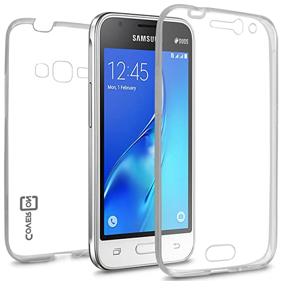 new product 08a57 8b624 Galaxy Express 3 Case, Samsung Luna case (2016), CoverON [WrapGuard Series]  Full Body Two Piece Ultra Slim Fit Protective Clear TPU Cover Phone Case ...