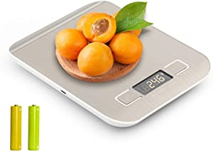 Food Scale Coffee Scale Nutrition Calculator, 22lb Digital Kitchen Scale Weight Grams and oz for Cooking Baking,1g/0.1oz Precise Graduation, Stainless Steel