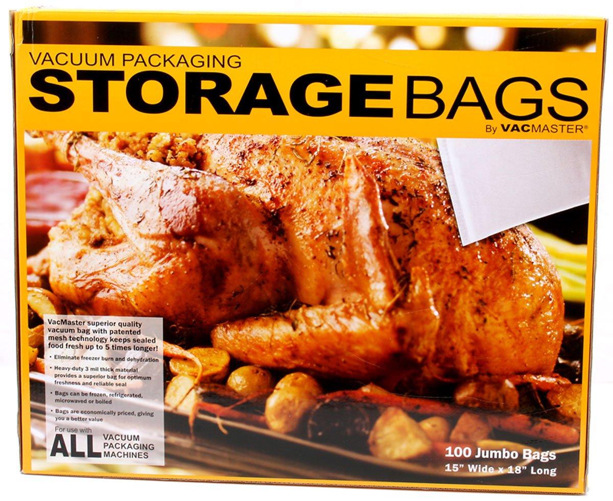 VacMaster Full Mesh Vacuum Bags, 15-Inch by 18-Inch Jumbo Bag, 100-Count