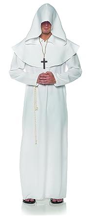 Amazon.com  Underwraps White Monk Mens Adult Religious Costume Robe   Clothing 5bf707157