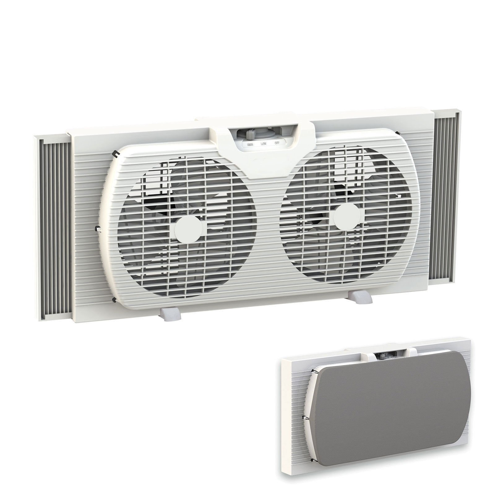 Lotus Analin Dual Blade 9-Inch Twin Window Fan with Cover Portable, White by Lotus Analin