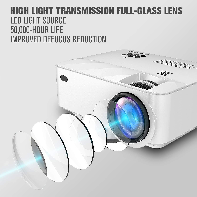 Mini proyector, 2400 Lumens LCD minibeamer y iPad/Smartphones con ...