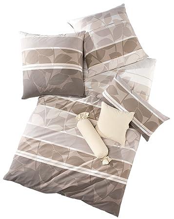 Schlafgut Bettwäsche Single Jersey Nerz Größe 155x220 Cm 40x80 Cm