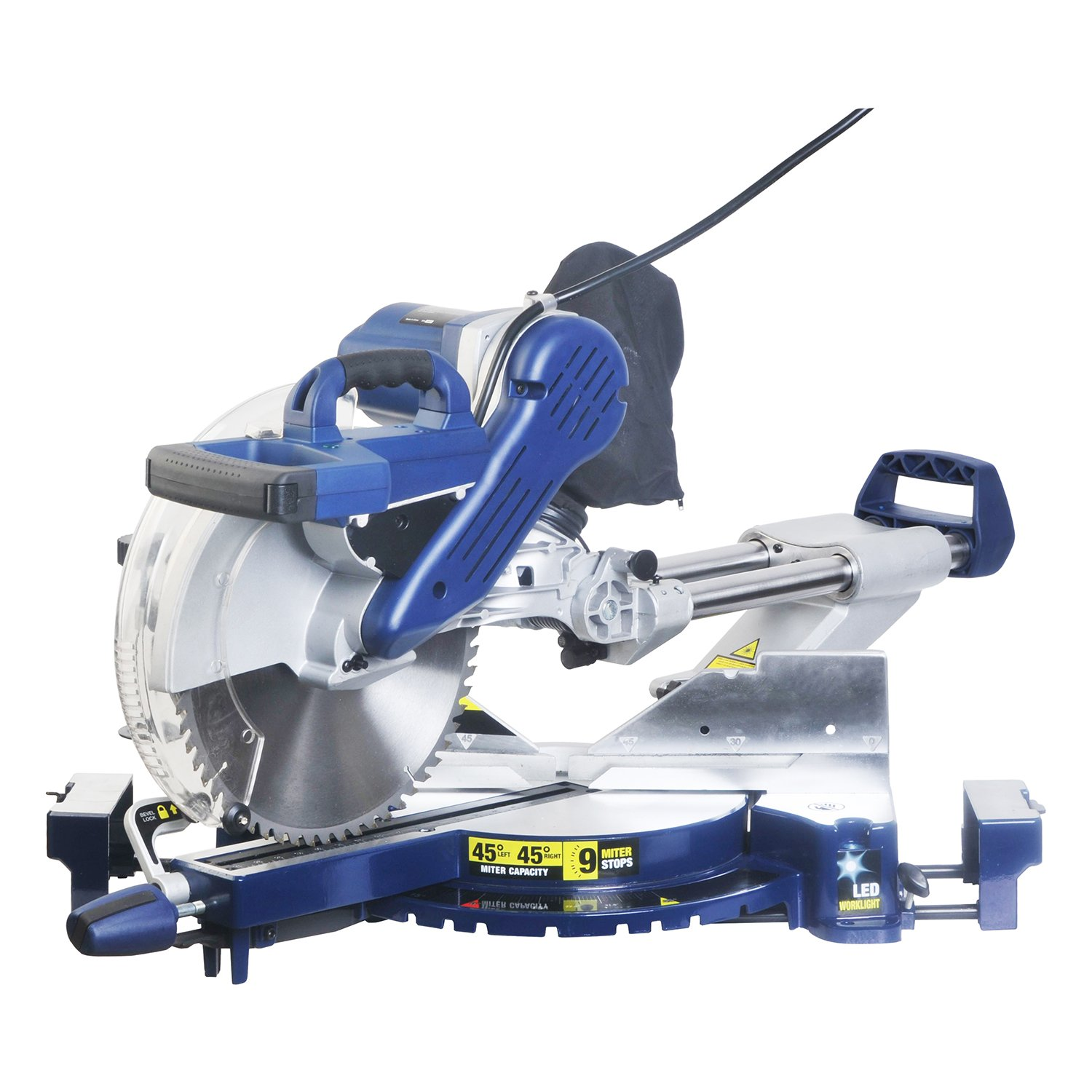 Wonlink 15 Amp 12'' Dual Bevel Sliding Compound Miter Saw with Laser and LED Work Light by Wonlink (Image #9)