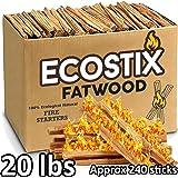 EasyGoProducts Eco-Stix Fatwood Fire Starter Kindling 柴棒 - 散装 20 Lbs EGP-STIX-002-1