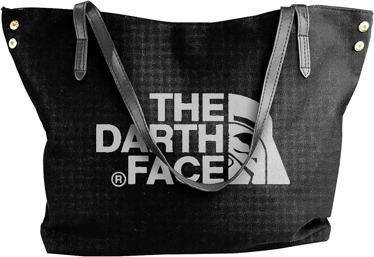 Edmundy The Darth Face Shoulder Bag For Women,Simple Yet Stylish Canvas Shoulder Bag Black.