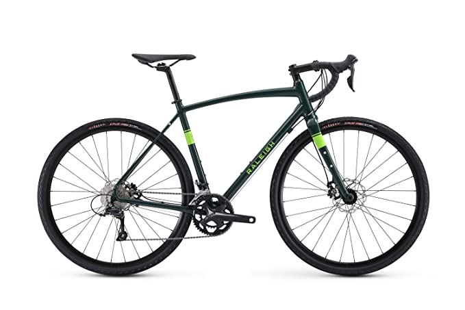 Raleigh Bikes Willard 2 Gravel Adventure Road Bike, Green, 54cm/Medium best gravel bikes