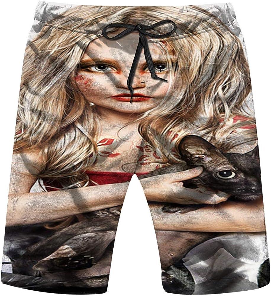 Leopard Animal Wild Mens Swim Trunks Summer Beachwear Board Shorts Quick Dry Print