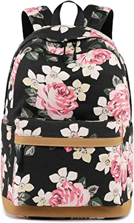 Amazon Com Ahyapiner Striped Canvas Backpack Girls School Bag