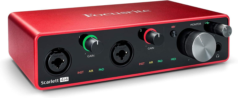 Focusrite Scarlett Solo (3ª generación) Interfaz de audio USB con herramientas Pro Tools, Rojo