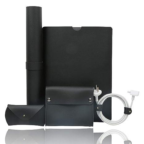 Tecool Funda Protectora 13 Pulgadas, Ordenador Portátil PU Cuero Case Laptop Sleeve para Macbook Air